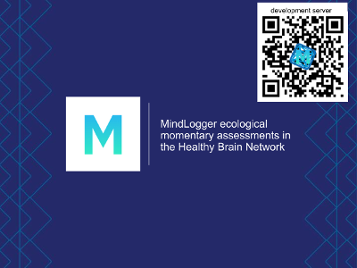 MindLogger ecological momentary assessments in the Healthy Brain Network slides