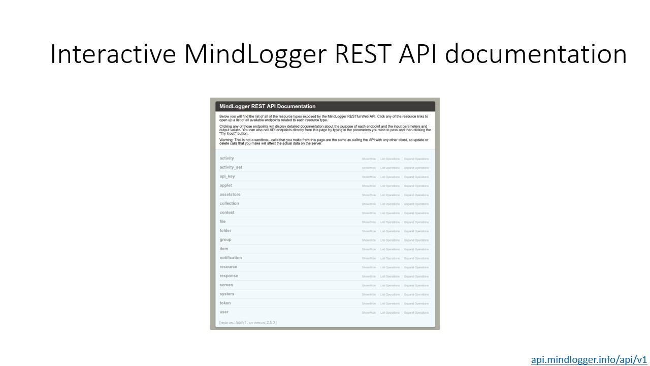 Girder for MindLogger Swagger documentation screenshot