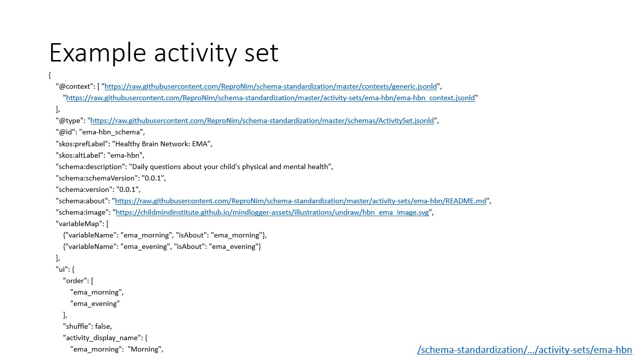 Head of example activity set as stored