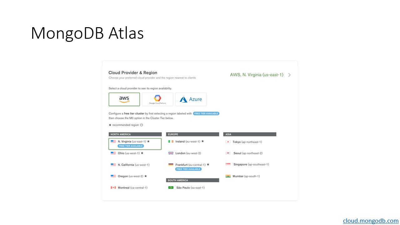 MongoDB Atlas configuration screen