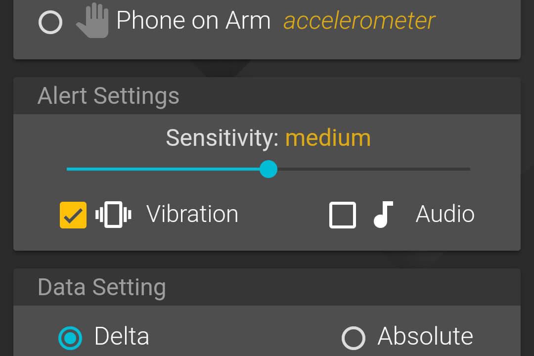 alert settings